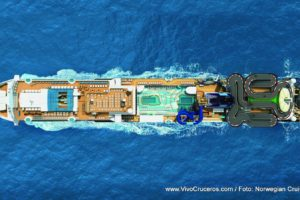 Norwegian Encore Aerial Birds Eye