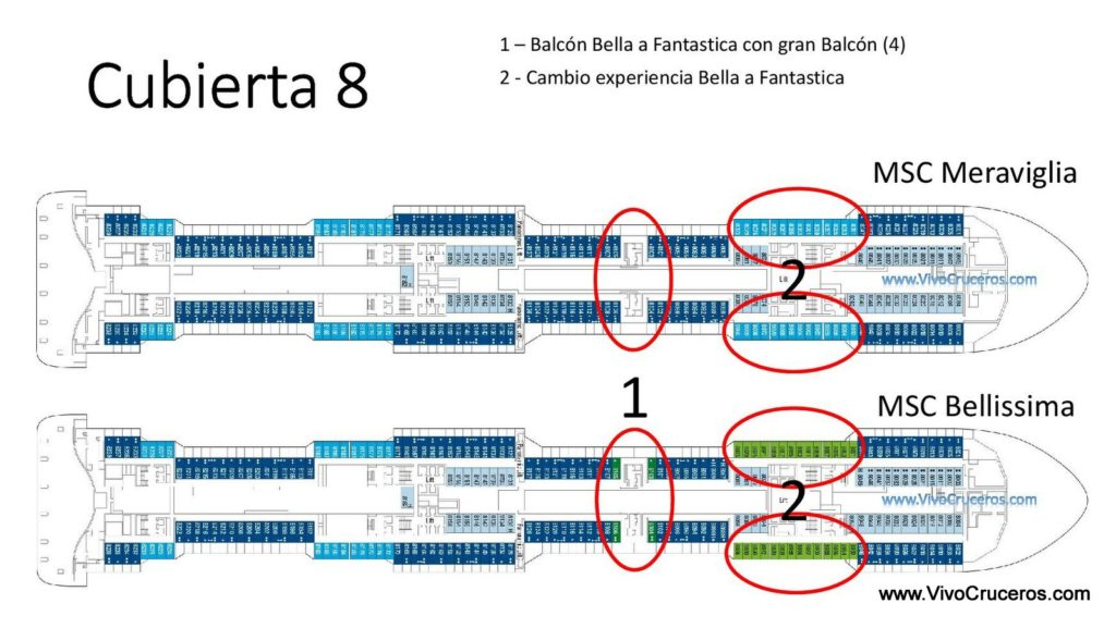 MSC Meraviglia vs MSC Bellissima Cubierta 8