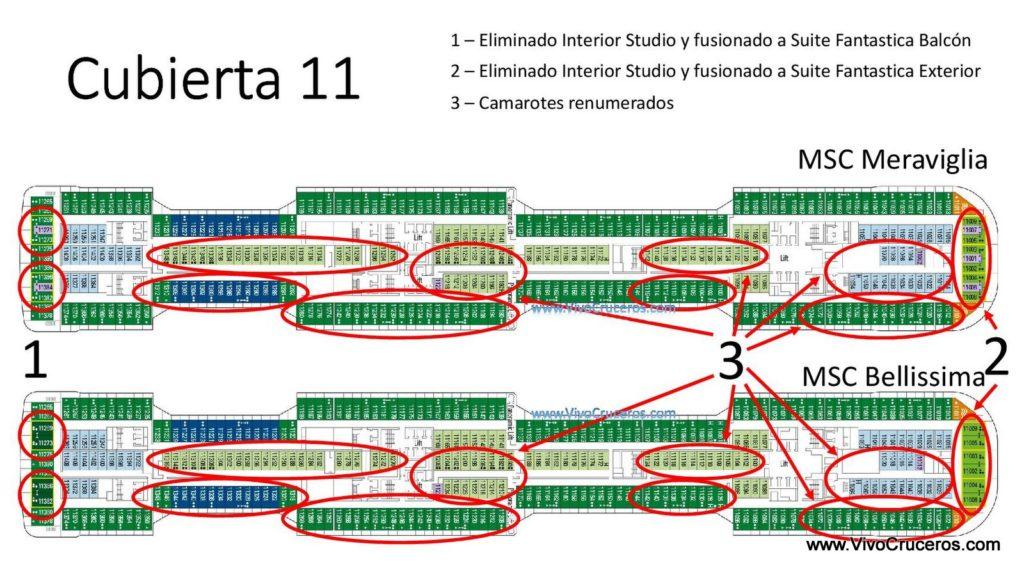 MSC Meraviglia vs MSC Bellissima Cubierta 11
