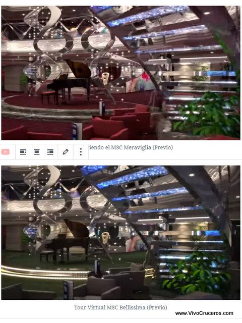 Meraviglia vs Bellissima Deck 5 Infinity Atrium