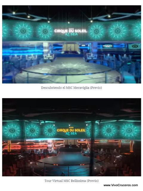 Meraviglia vs Bellissima Deck 7 Carousel Lounge Cirque du Soleil