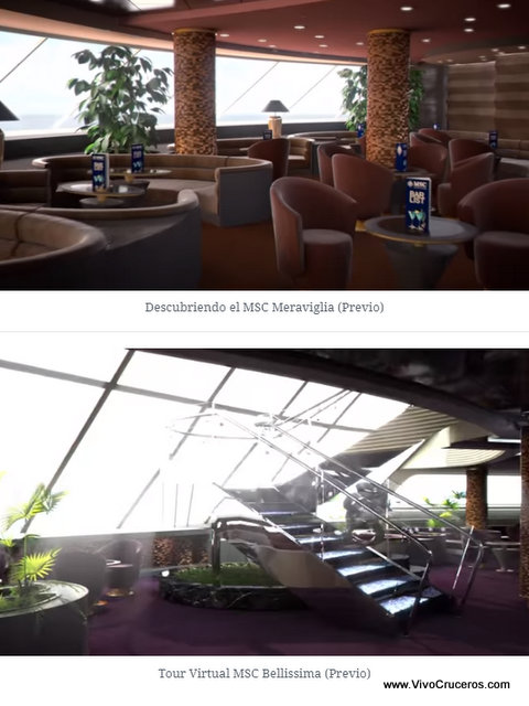 Meraviglia vs Bellissima Deck 16 Yacht Club Top Sail Lounge