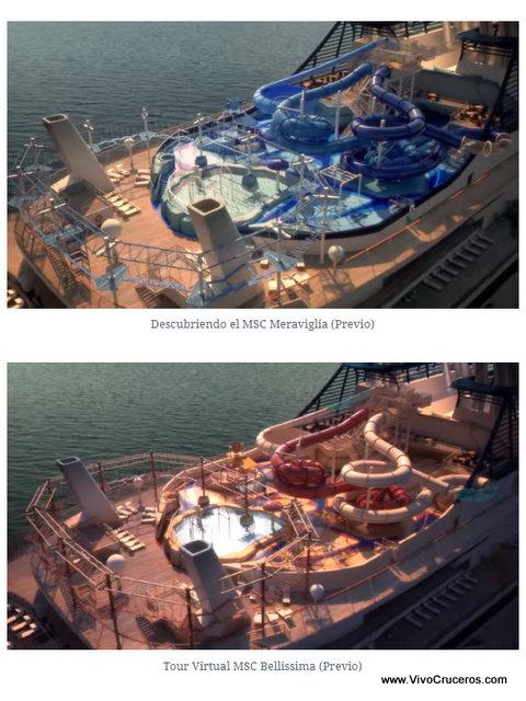 Meraviglia vs Bellissima Deck 19 Aquapark