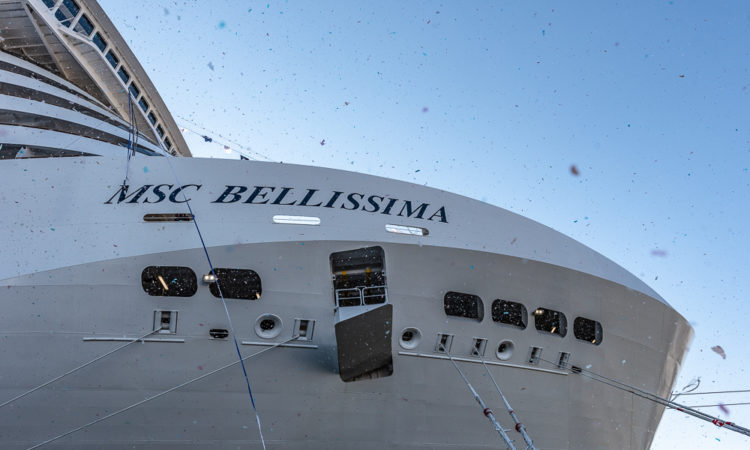 MSC Bellissima Entrega astillero