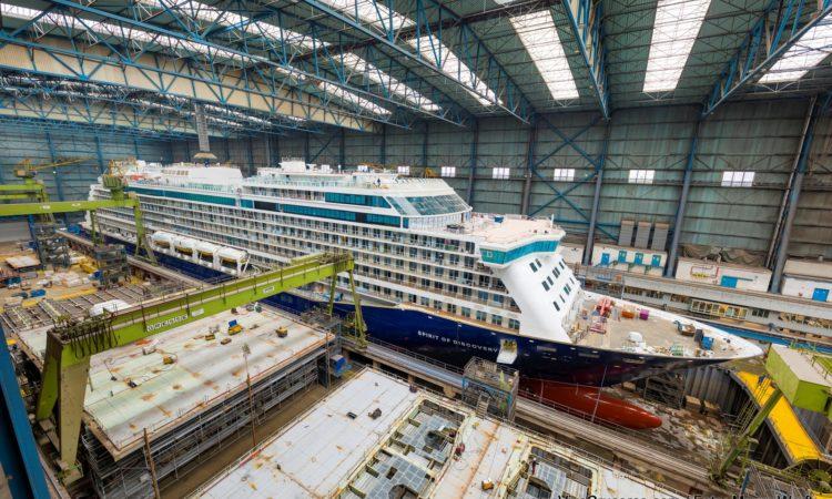 Spirit of Discovery (Saga Cruises) en construcción en Meyer Werft